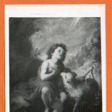 Postales: ANTIGUA POSTAL MUSEO DEL PRADO SAN JUAN BAUTISTA NIÑO MURILLO SIN EDITOR SIN CIRCULAR. Lote 27371359