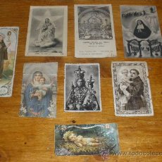Postales: 8 ANTIGUAS ESTAMPAS RELIGIOSAS.. Lote 26074328