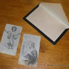 Postales: 2 ANTIGUAS ESTAMPAS RELIGIOSAS.. Lote 26074489