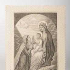 Postales: ESTAMPA RELIGIOSA TROQUELADA NUESTRA SEÑORA DEL CARMEN. Lote 26388718