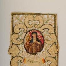 Postales: ESTAMPA RELIGIOSA TROQUELADA, S.CLARA. S-XVIII. Lote 26391303