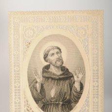 Postales: ESTAMPA RELIGIOSA TROQUELADA, SAN FRANCISCO DE ASIS. Lote 26391422