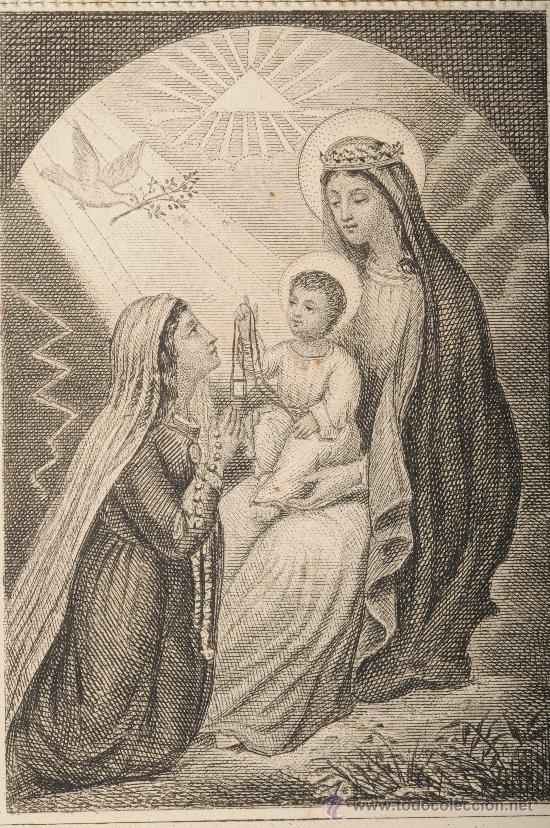 Postales: Estampa religiosa troquelada Nuestra Señora del Carmen - Foto 2 - 26388718