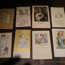 Postales: LOTE DE 8 RECORDATORIOS DE COMUNION - AÑOS 50-60. Lote 26458384