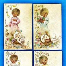 Cartes Postales: ESTAMPA PRIMERA COMUNION / RECORDATORIO - DIB. NUCO - COL. DE 4 - ED. CYZ - R-5386 - AÑOS 70 / 80. Lote 254821160