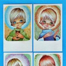 Cartes Postales: ESTAMPA PRIMERA COMUNION / RECORDATORIO - DIB.S/ DATOS - COL. DE 4 - ED.EDICROMO - R-2244 - AÑO 1974. Lote 26471045