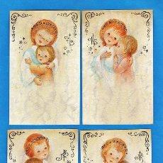 Cartes Postales: ESTAMPA PRIMERA COMUNION / RECORDATORIO - DIB. FRANCIS - ED. CYZ - COL. DE 4 - R-5489 - AÑOS 70. Lote 26515177