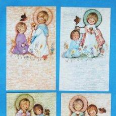 Cartes Postales: ESTAMPA PRIMERA COMUNION / RECORDATORIO - DIB.S/DATOS - ED. ORTIZ - COL. DE 4 - R- 748 - AÑOS 60 /70. Lote 27338994