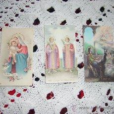 Postales: 3 POSTALES RELIGIOSAS ANTIGUAS. Lote 26544258