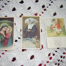 Postales: 3 POSTALES RELIGIOSAS ANTIGUAS. Lote 26544462