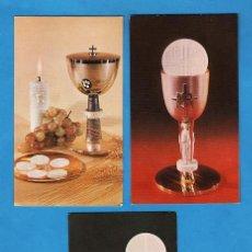Cartes Postales: ESTAMPA PRIMERA COMUNION / RECORDATORIO - FOTO - ED. CYZ - COL. DE 3 - R-5208 - AÑOS 60/70. Lote 26576638