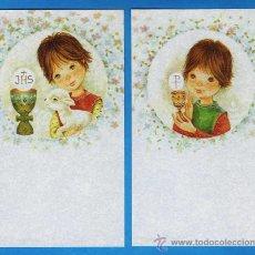 Cartes Postales: ESTAMPA PRIMERA COMUNION / RECORDATORIO - DIB. S/DATOS - COL.DE 2 - ED. GOLDEN - R- 403 - AÑO 1980. Lote 26626962