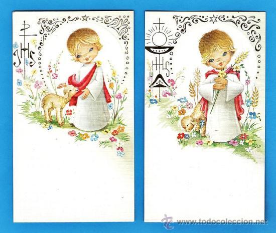 Estampa primera comunion recordatorio dib n comprar postales religiosas y recordatorios en - Recordatorios de comunion para imprimir ...