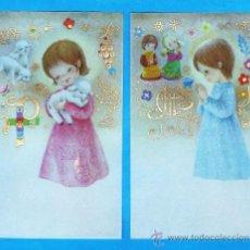 Cartes Postales: ESTAMPA PRIMERA COMUNION / RECORDATORIO - DIB.S/ DATOS - COL.DE 2 - ED.CYZ - R- S/Nº - AÑOS 70. Lote 120689638