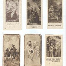 Postales: 6 ESTAMPAS RELIGIOSAS ANTIGUAS. Lote 26712572
