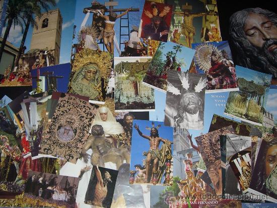 LOTE DE 49 FOTOGRAFÍAS DE LA SEMANA SANTA DE SEVILLA (LEER DESCRIPCIÓN) (Postales - Postales Temáticas - Religiosas y Recordatorios)