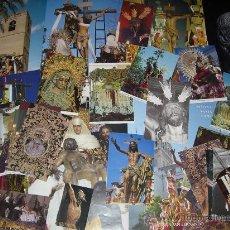Postales: LOTE DE 49 FOTOGRAFÍAS DE LA SEMANA SANTA DE SEVILLA (LEER DESCRIPCIÓN). Lote 27266815