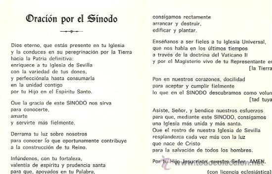 Postales: SINODO DE SEVILLA SIN FECHA (AÑOS 50-60) - TAMAÑO PLEGADO 8 X 11 CM. - Foto 2 - 27634004