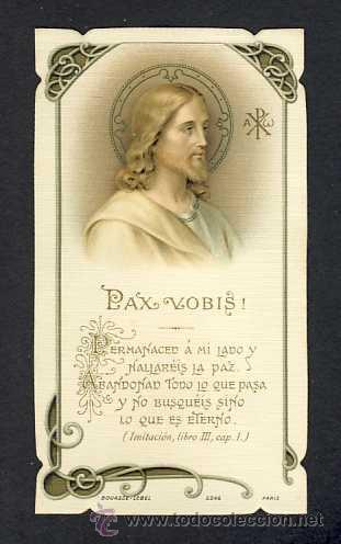 ESTAMPA RELIGIOSA: JESUS. PAX VOBIS, MODERNISTA, ART NOUVEAU (BOUASSE LEBEL NUM.5246) (Postales - Postales Temáticas - Religiosas y Recordatorios)