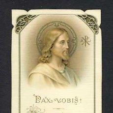 Postales: ESTAMPA RELIGIOSA: JESUS. PAX VOBIS, MODERNISTA, ART NOUVEAU (BOUASSE LEBEL NUM.5246). Lote 227618010