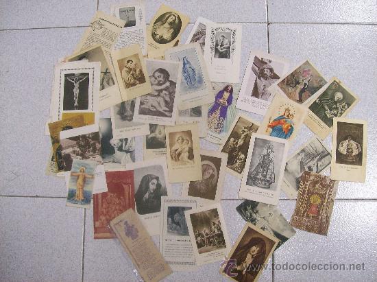 LOTE DE 43 ESTAMPAS RELIGIOSAS (Postales - Postales Temáticas - Religiosas y Recordatorios)