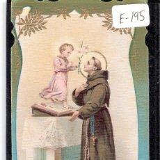 Cartes Postales: ESTAMPA RELIGIOSA ANTIGUA - SAN ANTONIO DE PADUA -( E-195). Lote 27960325