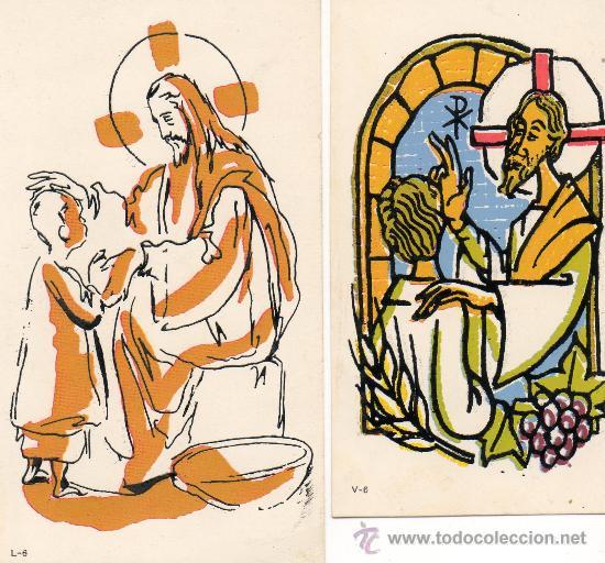 2 POSTALES (Postales - Postales Temáticas - Religiosas y Recordatorios)