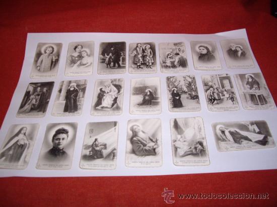 SANTA TERESITA DEL NIÑO JESUS (SU VIDA EN 20 MINI-ESTAMPAS) AÑO 1930 ? (Postales - Postales Temáticas - Religiosas y Recordatorios)