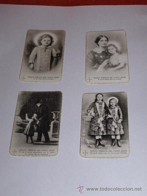 Postales: SANTA TERESITA DEL NIÑO JESUS (SU VIDA EN 20 MINI-ESTAMPAS) AÑO 1930 ? - Foto 2 - 28223195