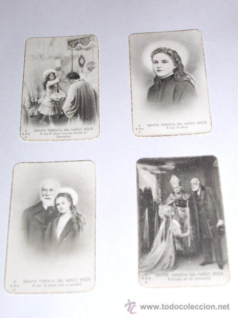Postales: SANTA TERESITA DEL NIÑO JESUS (SU VIDA EN 20 MINI-ESTAMPAS) AÑO 1930 ? - Foto 3 - 28223195