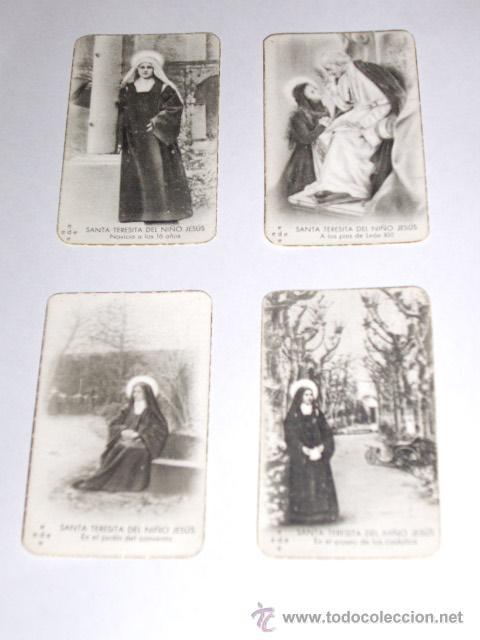 Postales: SANTA TERESITA DEL NIÑO JESUS (SU VIDA EN 20 MINI-ESTAMPAS) AÑO 1930 ? - Foto 4 - 28223195