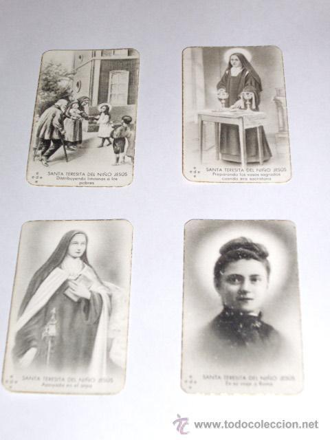 Postales: SANTA TERESITA DEL NIÑO JESUS (SU VIDA EN 20 MINI-ESTAMPAS) AÑO 1930 ? - Foto 5 - 28223195