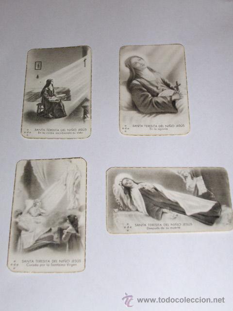 Postales: SANTA TERESITA DEL NIÑO JESUS (SU VIDA EN 20 MINI-ESTAMPAS) AÑO 1930 ? - Foto 6 - 28223195