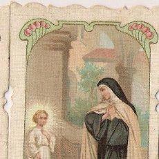 Postales: ESTAMPA SANTA TERESA DE JESUS, DE ALREDEDOR DE 1915, CON DETALLES MODERNISTAS. Lote 28237514