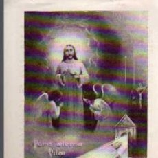 Postales: ANTIGUA ESTAMPA RELIGIOSA - RECUERDO DEL SANTISIMO SACRAMENTO - AÑO 1942. Lote 28260018