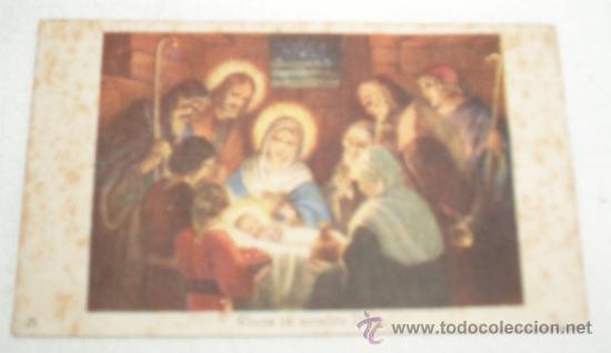 ESTAMPA DEL NACIMIENTO DE JESUS (Postales - Religiosas y Recordatorios)