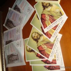 Postales: LOTE DE ESTAMPAS RELIGIOSAS. Lote 28753590