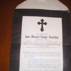 Postales: ESQUELA DE LA GERRA CIVIL ESPAÑOLA DE UN LLAMADO CAMISA VIEJA EN 1938 INTERESANTE PARA COLECCION . Lote 28804035