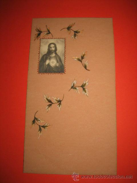 ANTIGUA ESTAMPA RELIGIOSA PINTADA A MANO (Postales - Postales Temáticas - Religiosas y Recordatorios)