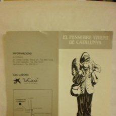 Postales: BONITO RECORDATORIO RELIGIOSO.FOLLETO DE PESEBRE VIVENT DE CORBERA DE LLOBREGAT . Lote 29035999