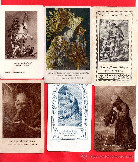 CUARENTA Y DOS RECORDATORIOS Y ORACIONES MUY ANTIGUAS TIENR FOTOS ADICIONALES (Postales - Postales Temáticas - Religiosas y Recordatorios)