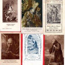 Postales: CUARENTA Y DOS RECORDATORIOS Y ORACIONES MUY ANTIGUAS TIENR FOTOS ADICIONALES . Lote 29213745