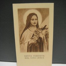 Postales: ESTAMPA RELIGIOSA SANTA TERESITA DEL NIÑO JESUS . Lote 29338031