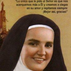 Postales: MADRE MARÍA JOSEFA DEL CORAZÓN DE JESÚS CARMELITA DESCALZA DEL CERRO DE LOS ÁNGELES . Lote 29642556