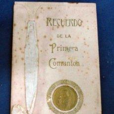 Postales: RECORDATORIO PRIMERA COMUNIÓN CON FOTOGRAFIA. AÑO 1918. Lote 29643764