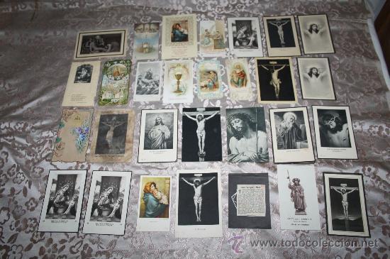 LOTE DE 29 ESTAMPAS RELIGIOSAS EN B/N Y A COLOR (Postales - Postales Temáticas - Religiosas y Recordatorios)
