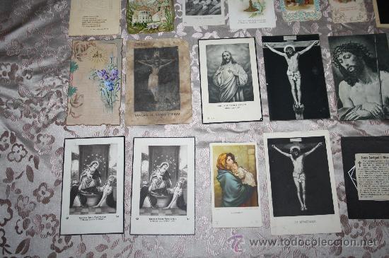 Postales: LOTE DE 29 ESTAMPAS RELIGIOSAS EN B/N Y A COLOR - Foto 2 - 98513363
