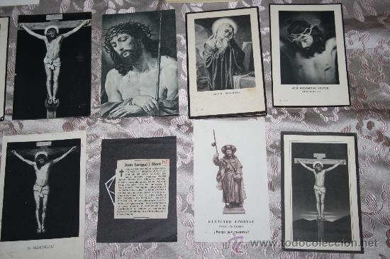 Postales: LOTE DE 29 ESTAMPAS RELIGIOSAS EN B/N Y A COLOR - Foto 3 - 98513363