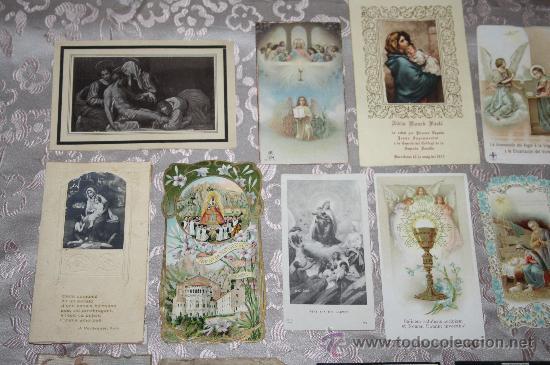 Postales: LOTE DE 29 ESTAMPAS RELIGIOSAS EN B/N Y A COLOR - Foto 5 - 98513363