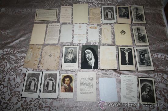 Postales: LOTE DE 29 ESTAMPAS RELIGIOSAS EN B/N Y A COLOR - Foto 6 - 98513363